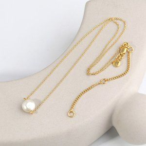 Madewell Coin Freshwater Pearl Pendant Necklace